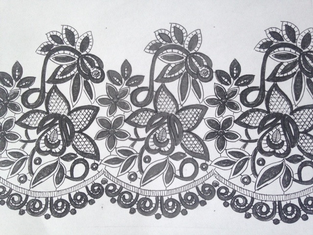 Stickerei-Zeichnung